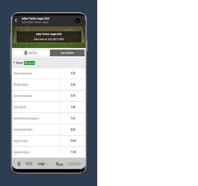 Online betting app ipl match